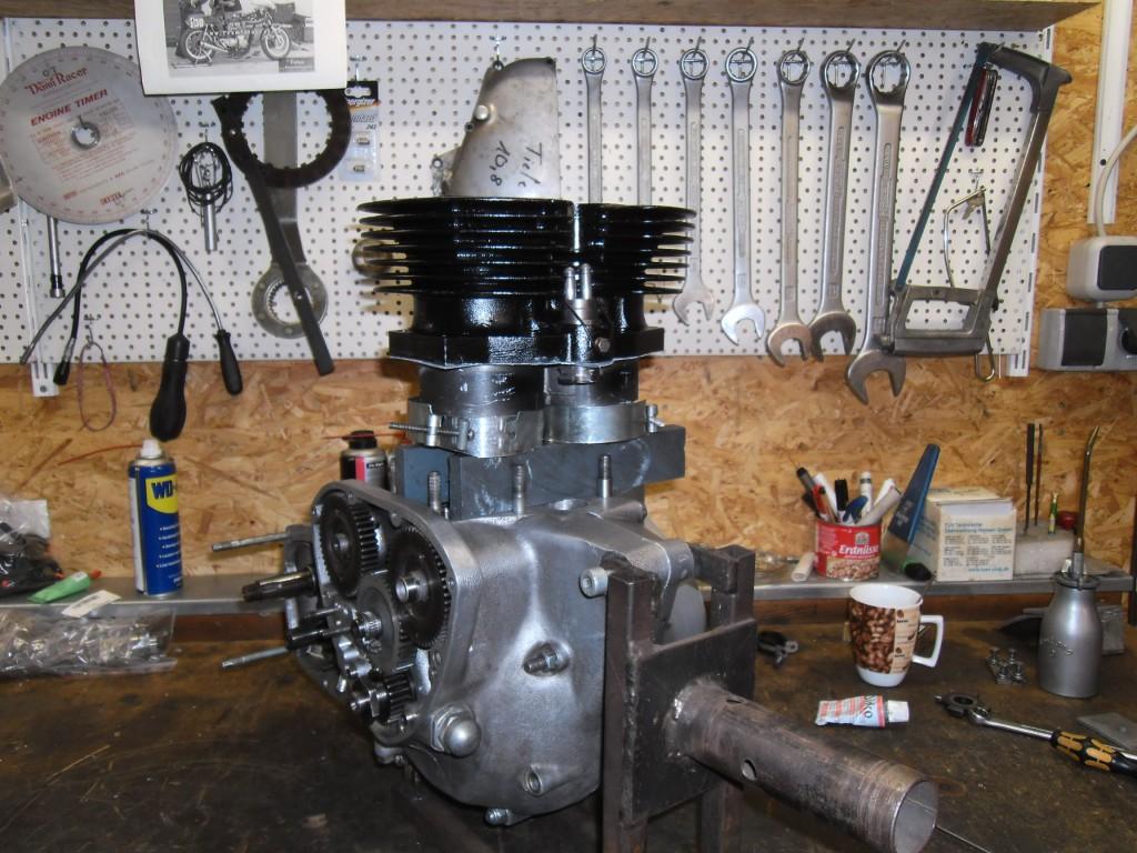 T140 Motor - Zylindermontage